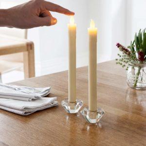 bougies LED en cire - cadeau pour une personne âgée