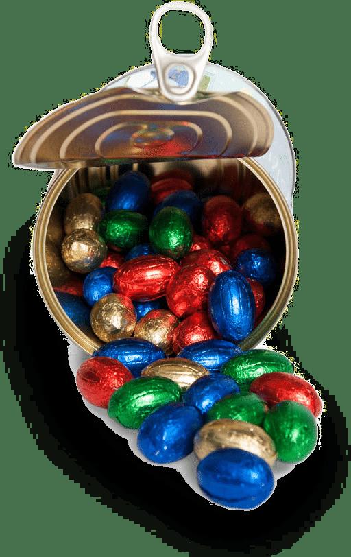 Cadeau pour Pâques - œufs en chocolat