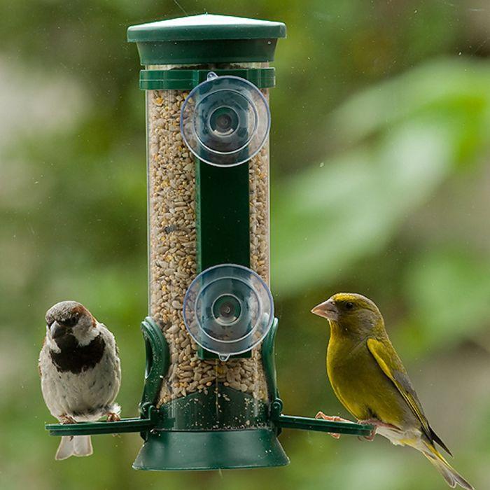 cadeau grandpere 85 ans - mangeoire oiseaux fenetre