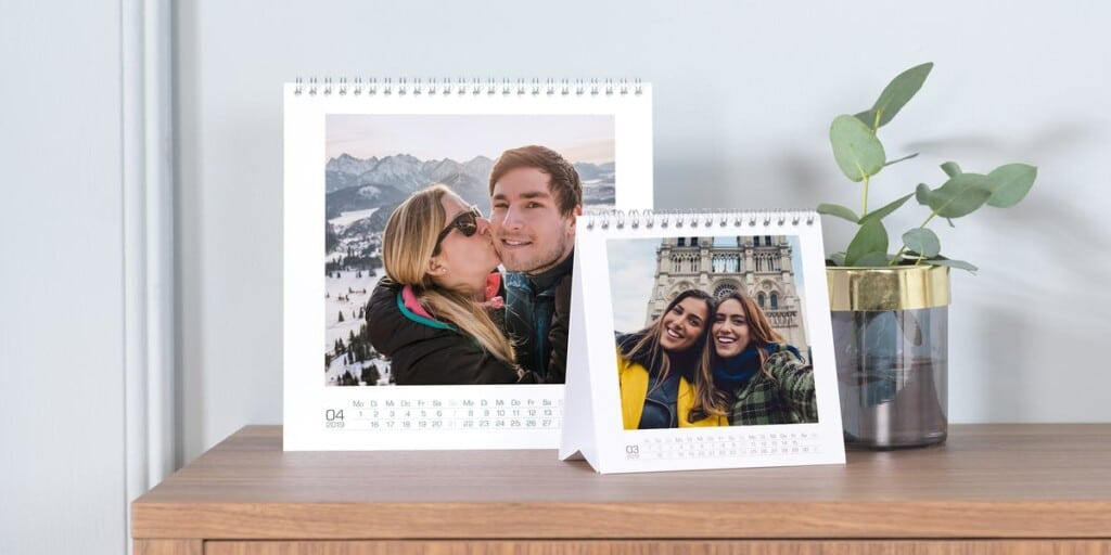 calendrier de bureau avec propres photos - cadeau papy