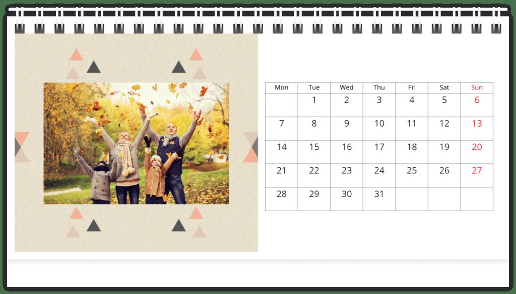 calendrier personnalisé - cadeau de Noël papy