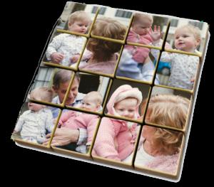 idée de cadeau pour l'anniversaire de Grand-père - Puzzle photo en chocolat
