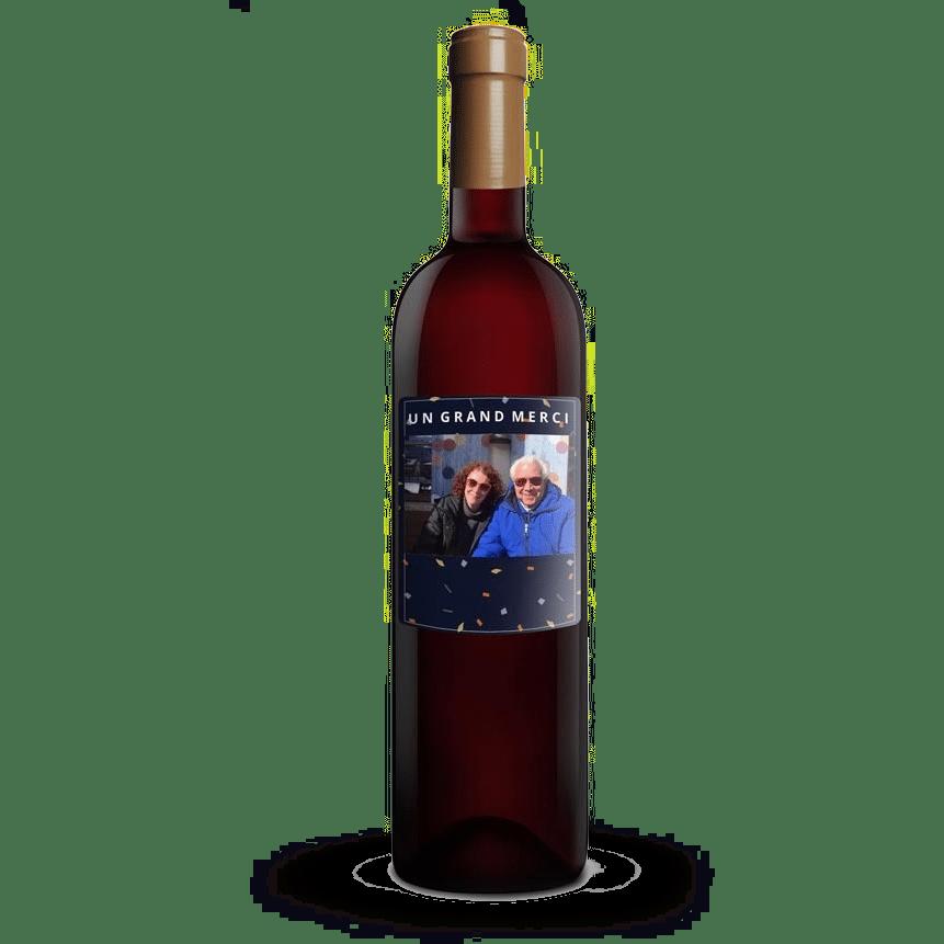 idée de cadeau pour l'anniversaire de Grand-père - vin personnalisé