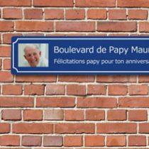 plaque de rue personnalisee