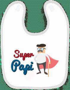 petit cadeau papi - bavoir bébé super papi