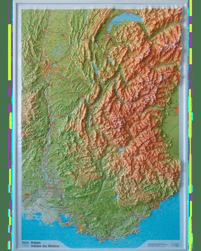 Relief Alpes, Vallée du Rhône