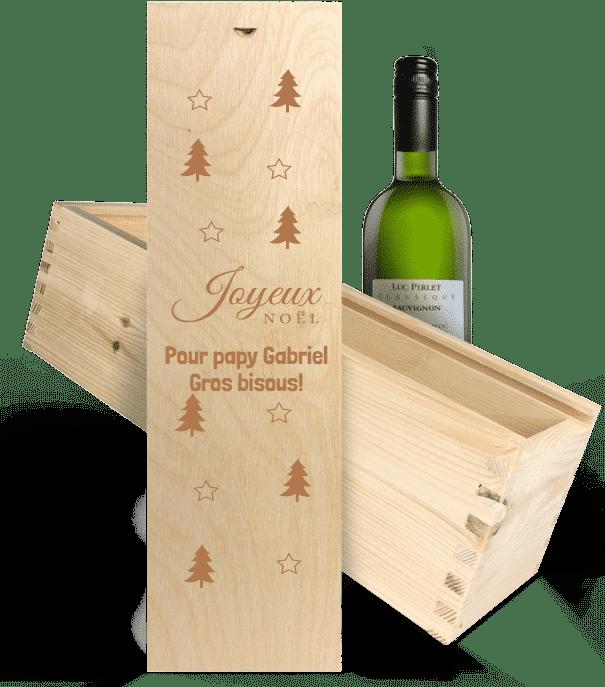 cadeau de Noël pour Grand-père - vin coffret cadeau gravure