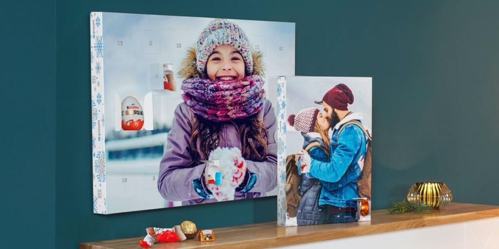 calendrier de l'avent avec photo et chocolat - cadeau papy