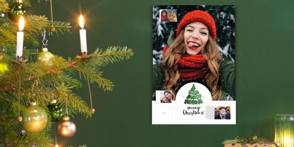 calendrier de l'avent avec votre propre photo - cadeau grands-parents