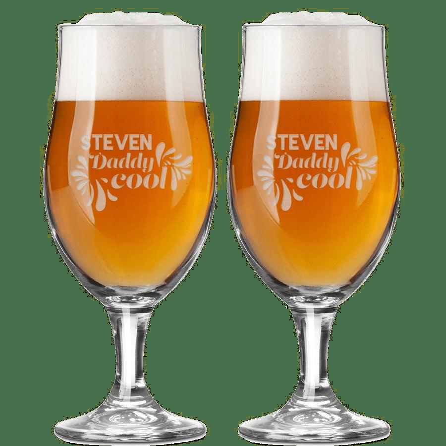 Cadeau pour la Fête des pères - Verre bière gravé