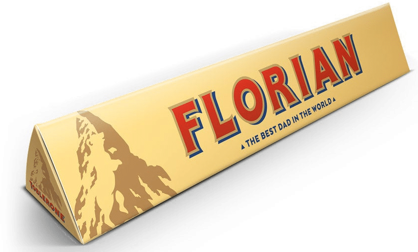 Toblerone - cadeau pour la Fête des pères
