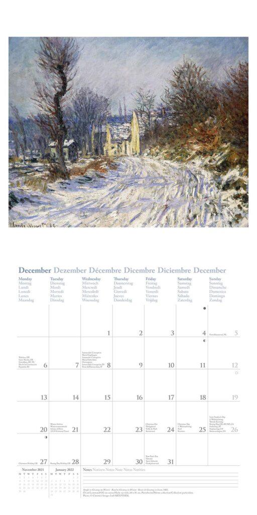 calendrier pour papy - Monet