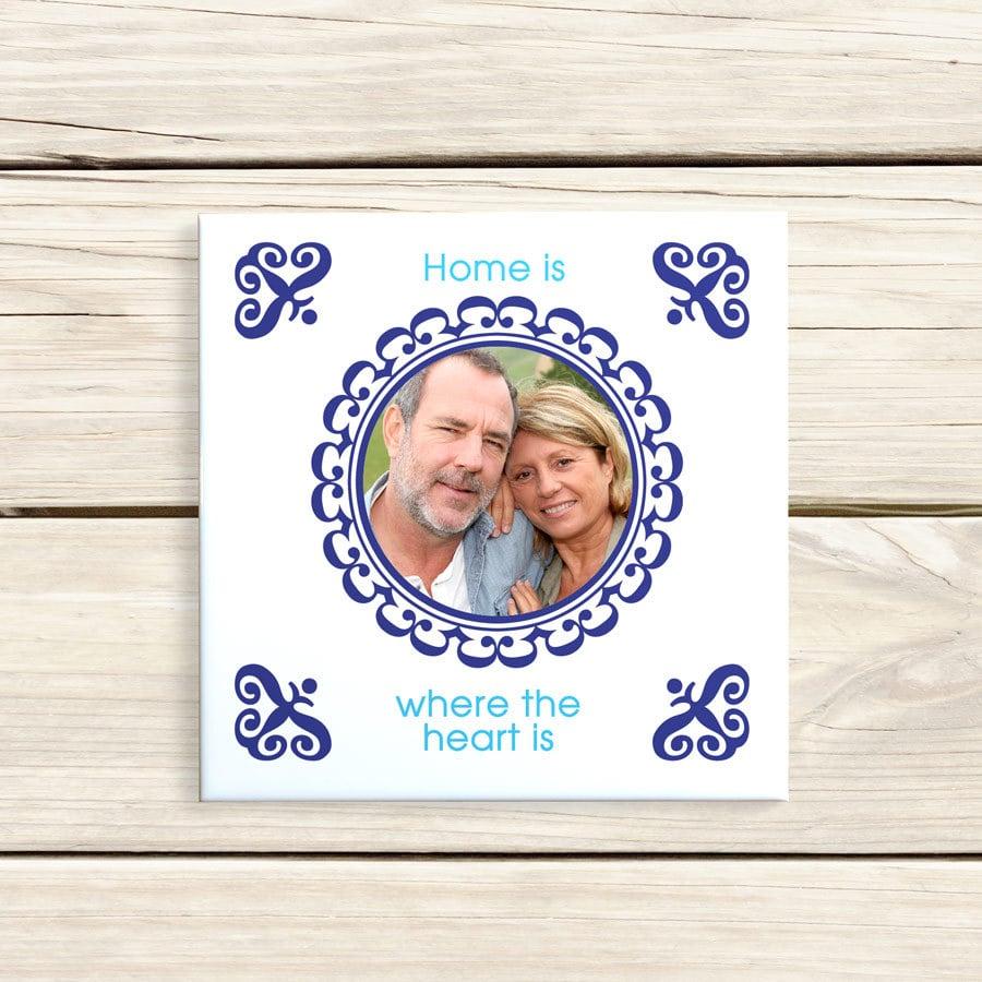 cadre photo céramique - cadeau original pour grand-père