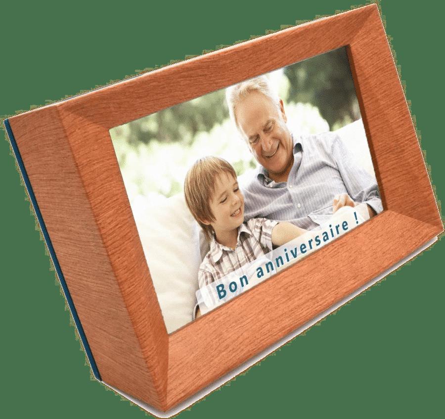 cadeau d'anniversaire pour papy - cadre photo numerique