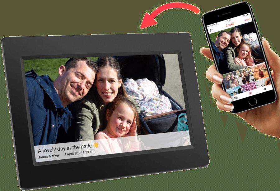 cadeau anniversaire papy - Cadre photos numériques en wifi