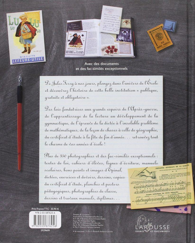 cadeau nostalgique pour une personne âgée - livre école d'antan