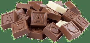 cadeau fan chocolat -télégramme en chocolat
