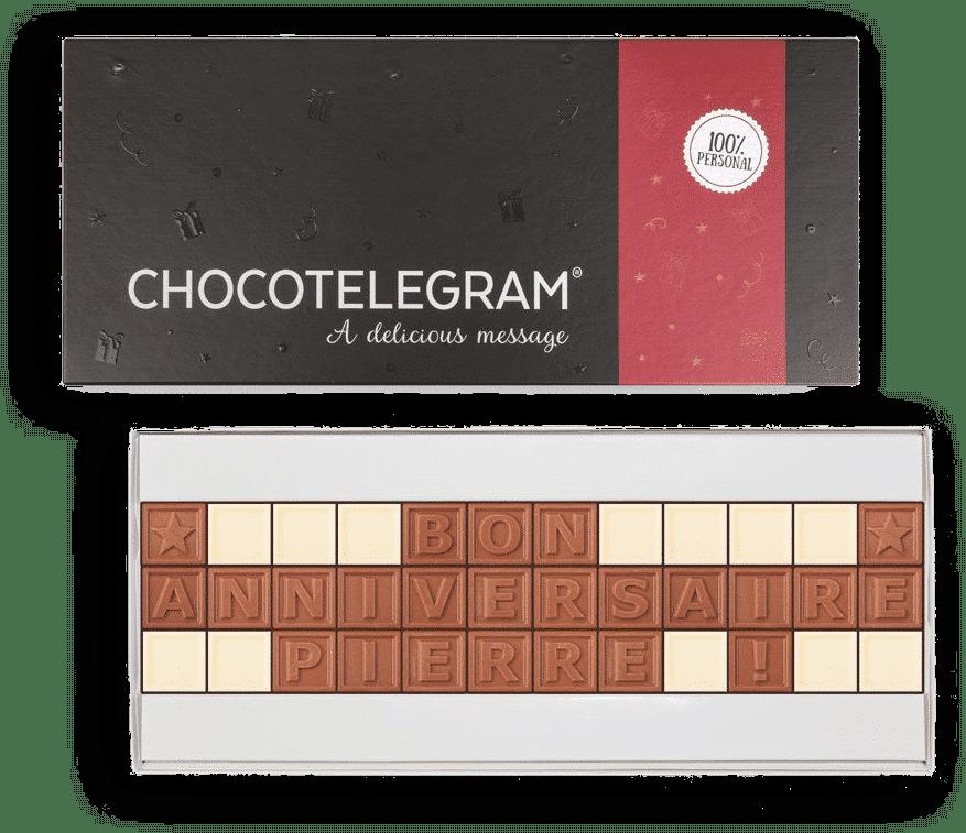 télégramme en chocolat - cadeau grand-père