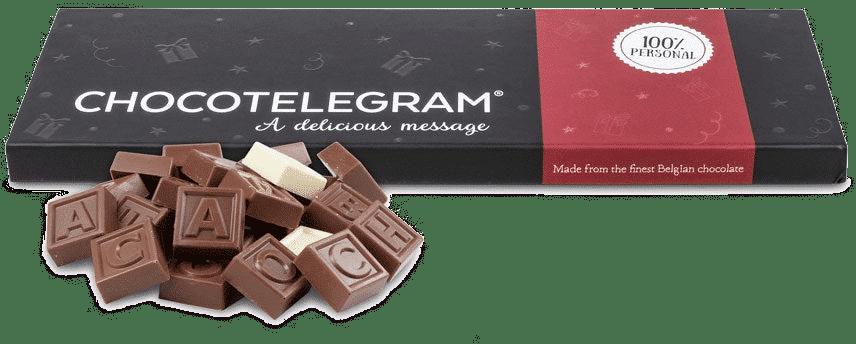 télégramme en chocolat - cadeau papy