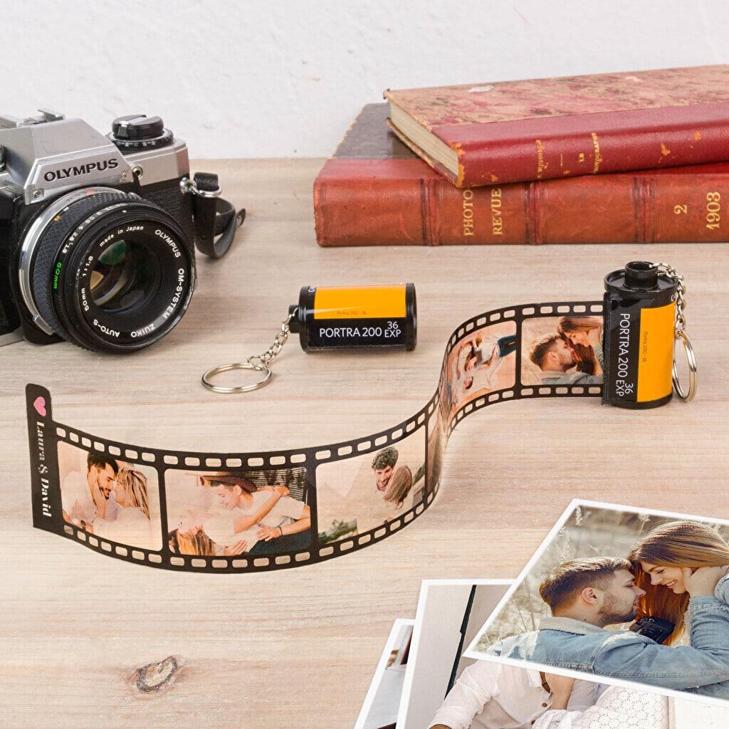 Cadeau photo pour les grands-parents - porte cle pellicule photo