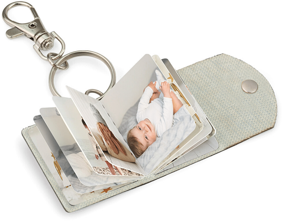cadeau grands-parents - porte cle mini album de photos