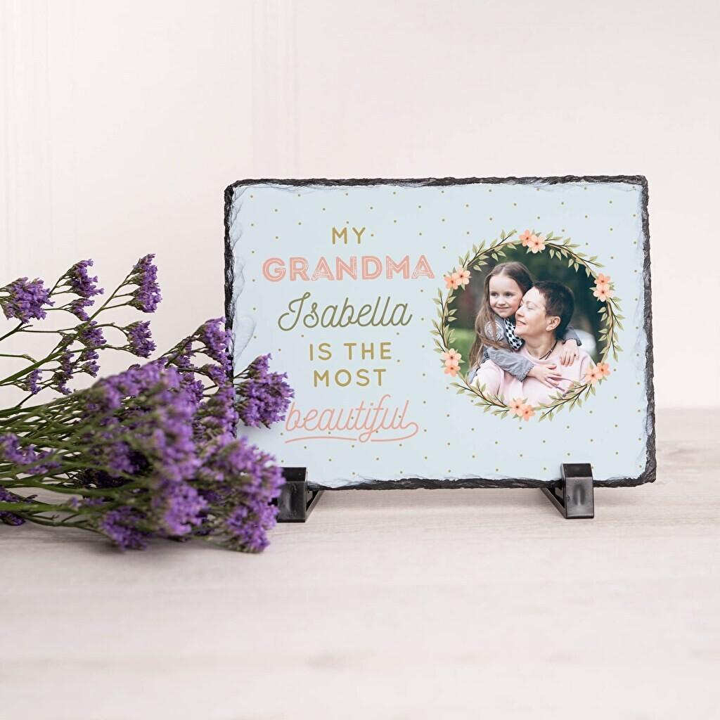 photo sur ardoise - Cadeau photo pour les grands-parents