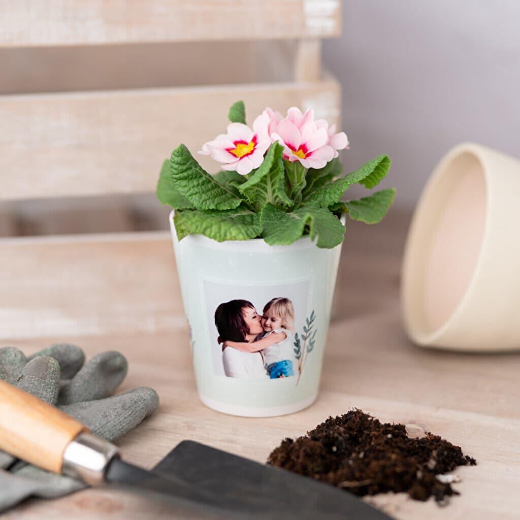 pot de fleurs personnalise avec photo
